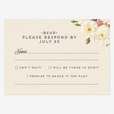 I like the response cards here cute way to request songs and have le jardinier reply postcards stopboris Choice Image