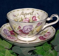 Royal Albert China Series - Flower of the Month Series 1970  Sweet Pea