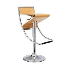 Modern design comes to the bar stool with this compelling stool. Featuring a natural plywood seat, the seat is adjustable with a hydraulic piston for a customizable experience. Perfect for guests at yo...  Find the Z Bar Stool, as seen in the Bar Stools Collection at http://dotandbo.com/category/furniture/stools/bar-stools?utm_source=pinterest&utm_medium=organic&db_sku=EEI0024