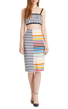 Peggy Striped Crepe-Jersey Pencil Skirt by Tanya Taylor - Moda Operandi - I hate seeing amazing things like this long after they've sold out. I adore this!