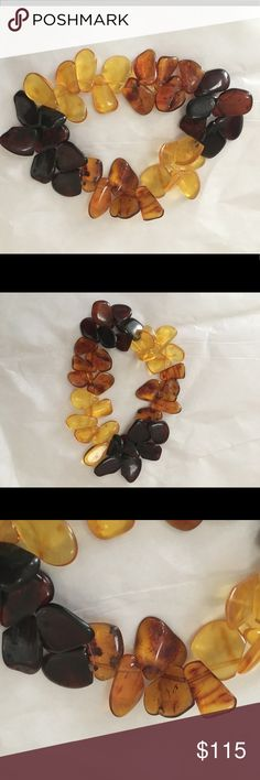 Vintage Amber Stone Baltic, Cognac, Honey Bracelet This Rare stunning  bracelet has three different types of genuine vintage Amber ! Features Cognac Amber, Honey Amber, And Baltic Amber. All stones have unique stunning color and furling! Lightweight and lovely, it makes a statement  when wearing Bohemian outfits! Amber is the oldest and timeless accessory of fashion! Bracelet has elastic band and will fit any wrist!  It is made for you! Open to offers Jewelry Bracelets