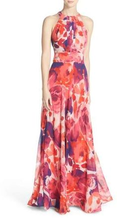 online shopping for Eliza J Floral Print Halter Maxi Dress (Regular & Petite) from top store. See new offer for Eliza J Floral Print Halter Maxi Dress (Regular & Petite) Maxi Dress Wedding, Halter Maxi Dresses, Floral Maxi Dress, Bride Dresses, Long Floral Dresses, Chiffon Dresses, Pleated Maxi, Dresses Dresses, Pretty Dresses