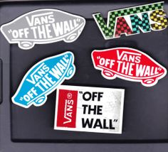 5 Vans Off The Wall Warped Tour Skateboard Shoe Skate Stickers Decals Mixed 2 | eBay