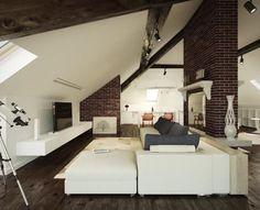 Aticos, interiores muy atractivos – chispis.com