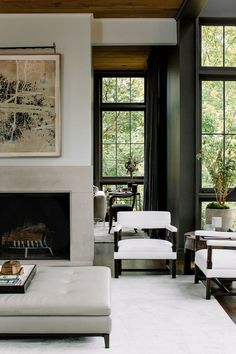 46 Extraordinary Black Living Room Designs That Never Go Out Of Fashion - 2020 Home design My Living Room, Interior Design Living Room, Home And Living, Living Room Designs, Living Room Decor, Living Spaces, Simple Living, Modern Living, Living Area