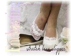 Lace socks wedding | white lace socks | wedding shoe socks | ENCHANTING peep socks bride