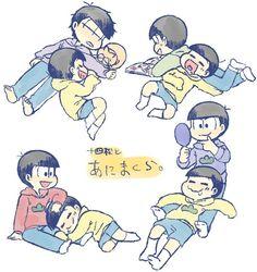 Osomatsu San Doujinshi, Sans Cute, Ichimatsu, Manga, Character Art, Cute Pictures, Brother, Anime, Geek Stuff