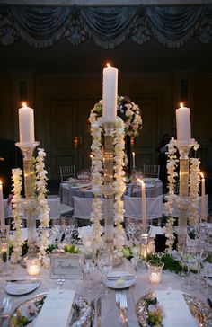 wedding flower candle centerpiece