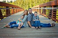 Great idea for back at one of the bridges on the trail; good for family pics, or groups of friends. --- like the posing!