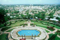 Pool at Castillo Serralles. From there you can see the beautiful view of Ponce.