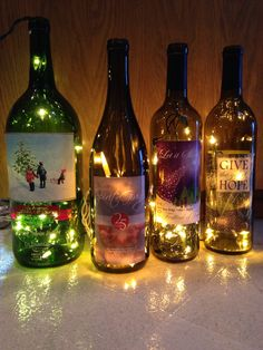 How to Make a Lighted Wine Bottle