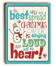 ArteHouse Christmas Cheer Wall Sign | zulily