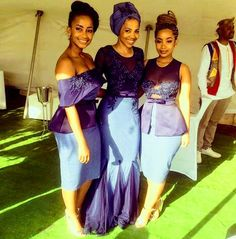 @rea_padi African Wear, African Dress, African Fashion, Traditional Wedding, Traditional Dresses, Seshweshwe Dresses, African Wedding Attire, Bridesmaids, Bridesmaid Dresses