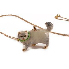 N2 - Chubby white cat necklace Love Persimmon