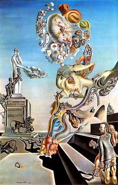 Lugubrious Game, Oil by Salvador Dali (1904-1989, Spain) #DALI