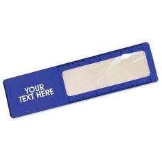"Custom Magnifying Glass Rulers: Available Color: Blue. Imprint Area: 1 1/2"" X 1"" 5X magnification. Product Size: 5 1/2"". Product Weight: 21 lbs. Packaging: 2500 pieces. #promotionalproduct #customproduct  #customruler"