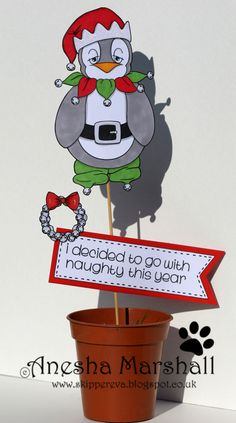 Finn is one of those people (or should I say penguins) who doesn't quite catch the spirit of Christmas. and don't we all know a few actua. Fabric Crafts, Paper Crafts, Digital Stamps, Colouring, Penguins, Cardmaking, Crafting, Spirit, Queen