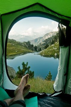 Who wouldn't want to wake up to this view? I did at Mt. Rainier, WA with a trout pond outside the tent and beautiful stars at night. BABS