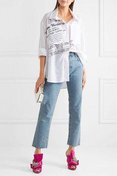 afc0d00c9d0156 Vivienne Westwood Anglomania - Nomad Printed Cotton-voile Shirt - White