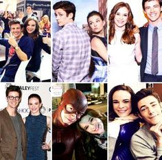 Tv Actors, Actors & Actresses, Barry And Caitlin, Flash Wallpaper, The Flash Grant Gustin, Snowbarry, Dc Tv Shows, Danielle Panabaker, Fastest Man
