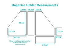 Magazine Holder Measurements - CM
