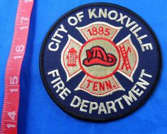 KNOXVILLE TENNESSEE FIRE DEPARTMENT EMBROIDERED CLOTH PATCH -FREE US SHIPPING