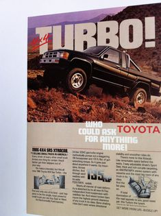 Hey, I found this really awesome Etsy listing at http://www.etsy.com/listing/173514587/1986-toyota-truck-vintage-advertising
