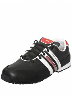 c238d20ff7b68 Y-3 SPRINT CLASSIC TEXTILE TRAINER BLACK RED £210.00  sneakers  trainers   sprint  y-3