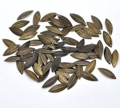BULK CHARMS    ON SALE NOW    500 Bronze Leaf Charms     FREE CHARMS