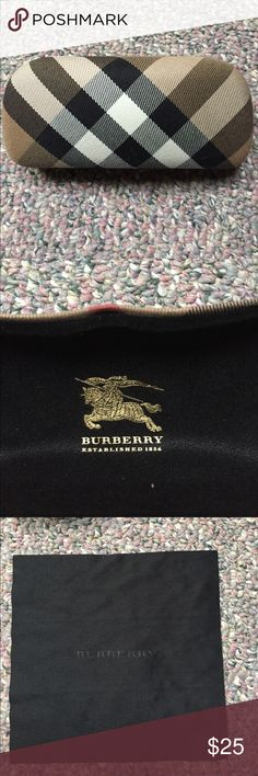 Burberry Sunglasses case with cleansing cloth Burberry Sunglasses case and/or jewelry holder. This is just a case and cleansing wipe Burberry Accessories Sunglasses