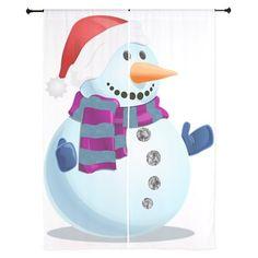 Jolly Snowman Curtains on CafePress.com