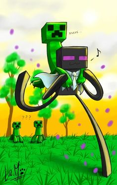 how to draw a cute enderman