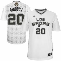 20cff5ba8 ... 20 Manu Ginobili Swingman Black Resonate Fashion Finals Patch NBA  adidas Manu Ginobili San Antonio Spurs 2014 Noches Enebea Swingman Jersey -  White ...