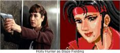 """Holly Hunter as Blaze Fielding. Why not? She was perfect as Inspector Mary Jane 'M.J.' Monahan in """"Copycat"""". I think she would have made a great Blaze Fielding in the Streets Of Rage movie. Adam Hunter, Beat Em Up, Copycat, Mary, Tv, Movies, Films, Television Set, Film"""