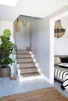Home inspiration: Hamptons-style holiday haven - Homes, Bathroom, Kitchen & Outd. - house and flat decorations Modern Coastal, Coastal Decor, Coastal Style, Coastal Living, Coastal Curtains, Coastal Cottage, Coastal Bedding, Coastal Farmhouse, Coastal Furniture