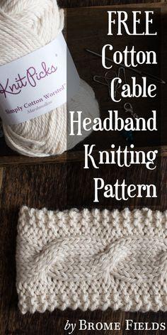 FREE Cotton Headband Knitting Pattern by Brome Fields