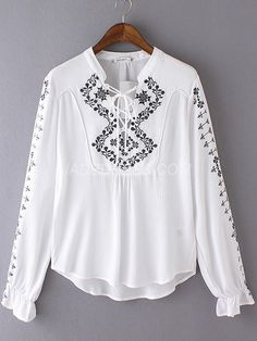 jadedress.com SUPPLIES Standard Polyester Patchwork Fall Long Sleeve Pullover Loose Blouses Blouses