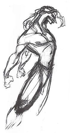Living lines library: tarzan - glen keane Character Design Cartoon, Character Design References, Character Drawing, Gesture Drawing, Life Drawing, Drawing Tips, Drawing Faces, Contour Drawings, Disney Concept Art