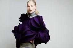 PORTFOLIO | Floral Silhouette | Fashion Design | www.ninanin.com Credits Photo: Armando Ello