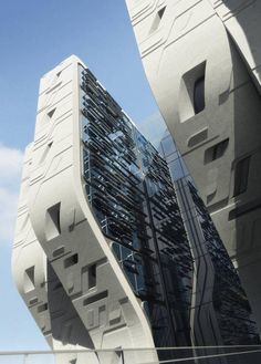 Stone Towers In Cairo By Zaha Hadid