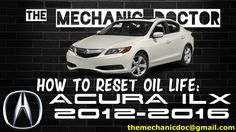 This video will show you step by step instructions on how to reset your oil life indicator on a Acura ILX 2012-2016 .