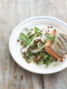 Recept voor wintersalade met linzen en zalm | njam!