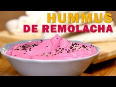 HUMMUS DE REMOLACHA   Receta vegana REAL FOOD - YouTube Pudding, Ice Cream, Desserts, Food, Youtube, Simple, Fast Recipes, Dishes, Cooking