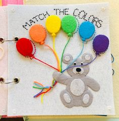 Excited to share this item from my shop: Color Match Balloon Quiet Book Page, felt handmade busy book/activity book for toddlers and children Diy Busy Books, Diy Quiet Books, Baby Quiet Book, Felt Quiet Books, Activity Books For Toddlers, Book Activities, Summer Activities, Quiet Book For Toddlers, Busy Boards For Toddlers