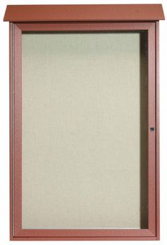 PLD4832-5. Cedar Single Hinged Door Plastic Lumber Message Center with Vinyl Posting Surface. 48″ High x 32″ Wide