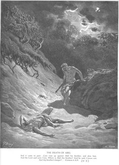 Cain Slays Abel by Gustave Doré