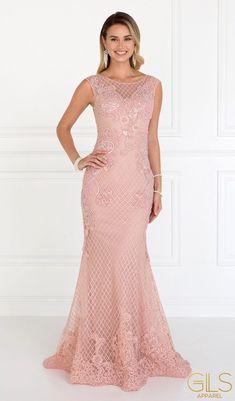 Long Mermaid Dress, Mermaid Dresses, Long Formal Gowns, Formal Dresses, Wedding Dresses, Mother Of The Bride Dresses Long, Floor Length Gown, Applique Dress, Types Of Dresses