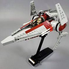 V-wing Starfighter - Minifig Scale Lego Arc 170, Lego Clones, Lego Sculptures, Lego Ship, Lego Spaceship, Galactic Republic, Lego Mechs, Cool Lego Creations, Star Wars Ships