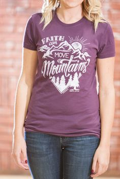 Move Mountains Purple T-Shirt - JR