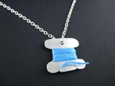 Spool Necklace by KortniSheely on Etsy, $35.00